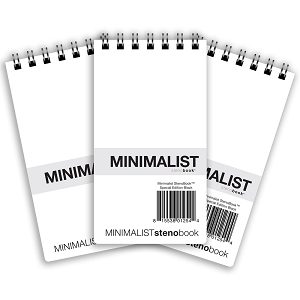 Minimalist StenoBook - Special Edition Black - 3 Pack (3.75 x 7 inches)