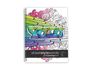 Street Style Words Quick Coloring Book Large (8.5 by 11 inches)