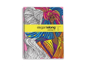 Action Publishing Coloring Book: Elegant Elong · Large (8.5 x 11)