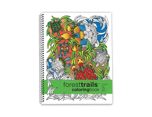 Forest Trails Coloring Book (8.5 x 11 inches)