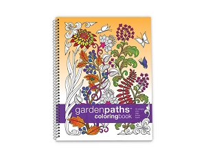 Action Publishing Coloring Book: Garden Paths Large Sidebound (8.5 x 11)