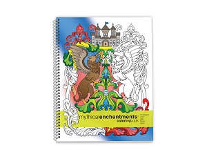 Action Publishing Coloring Book: Mythical Enchantments Large Sidebound (8.5 x 11 inches)