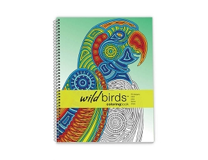 Action Publishing Coloring Book: Wild Birds Large Sidebound (8.5 x 11 inches)