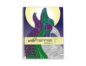 Action Publishing Coloring Book: Wild Mammals Large Sidebound (8.5 x 11 inches)