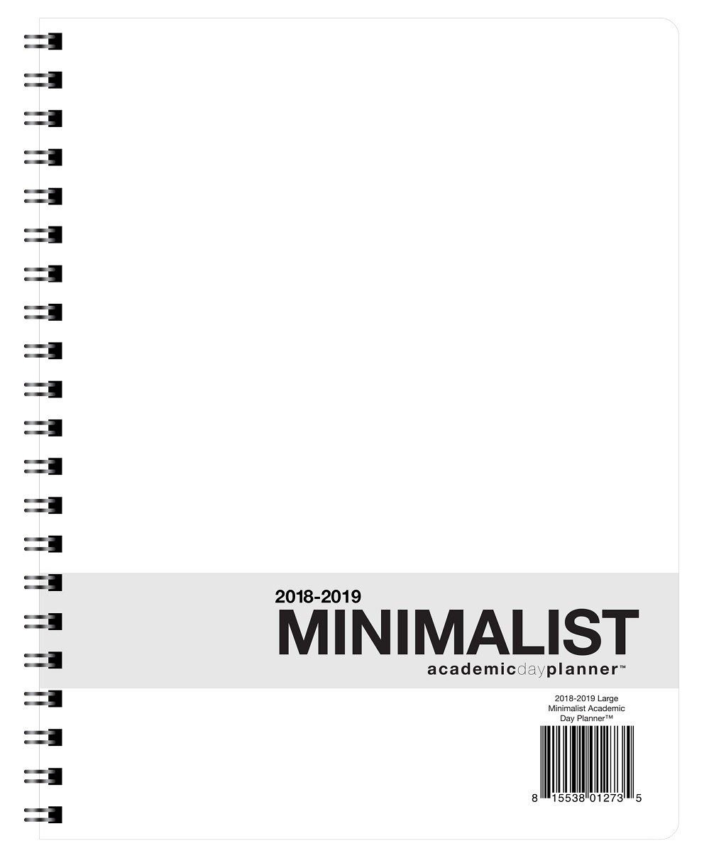 "2018-2019 Large Minimalist Academic Planner (8.5"" x 11""), Wire Bound, Crisp White Archival Quality Paper"