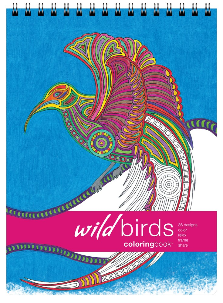 Action Publishing Coloring Book: Wild Birds · Tribal Inspired Designs of Eagles, Owls and More for Stress Relief, Relaxation and Creativity · Large (8.6 x 11.75 inches)