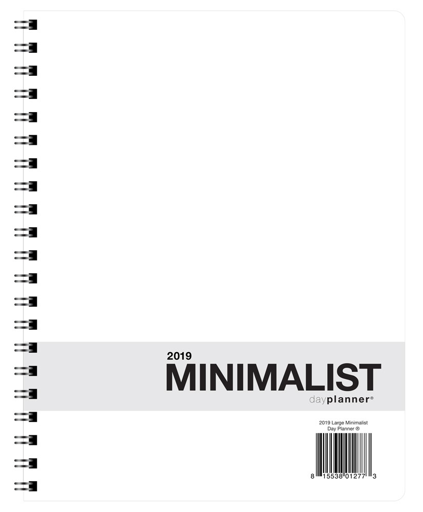 2019 minimalist day planners action publishing inc