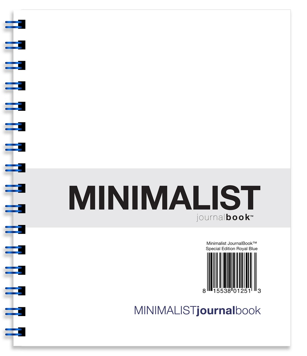 Minimalist JournalBook - Special Edition Royal Blue (7 x 8.5 inches)