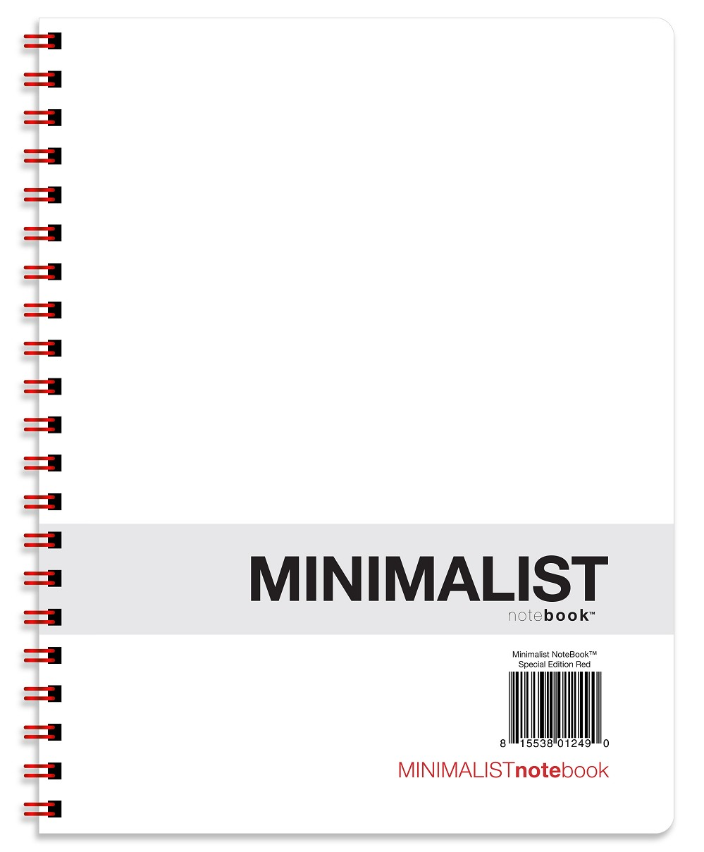 Minimalist NoteBook - Special Edition Red (8.5 x 11 inches)