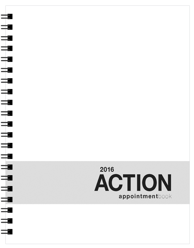 Action Appointment Book (8.5 x 11 inches)