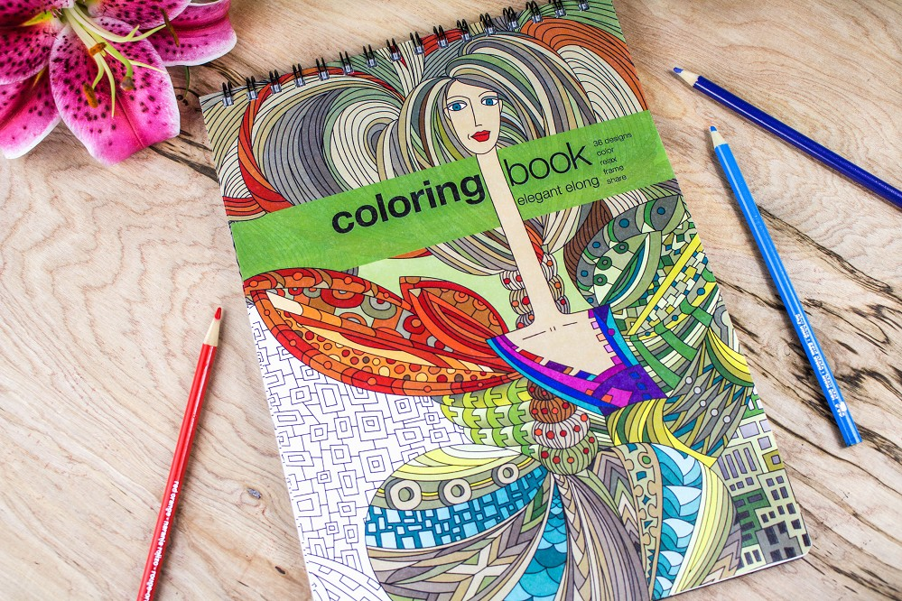 Action Publishing Coloring Book: Elegant Elong · Intricate Designs Inspired by Modern Art for Stress Relief, Relaxation and Creativity · Large (8.6 x 11.75 inches)