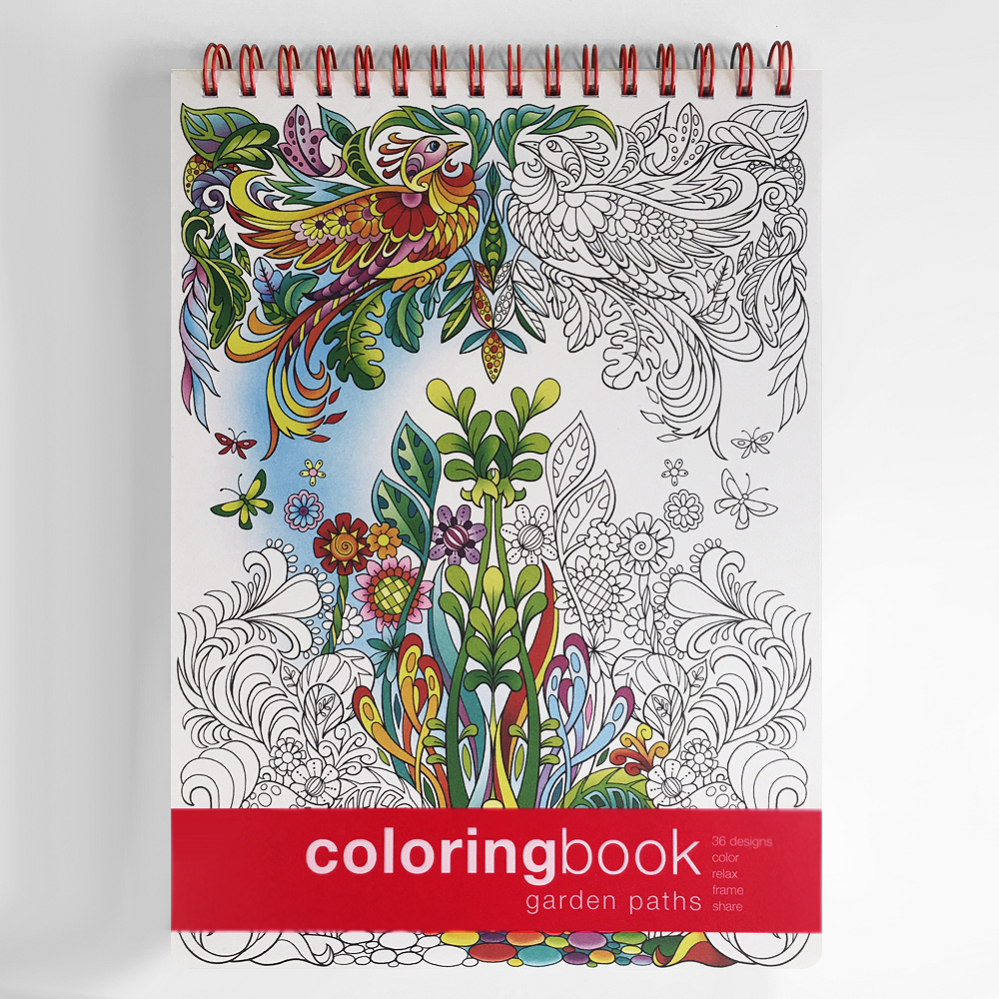 Garden Paths Coloring Book Intricate Coloring Books Kathryn