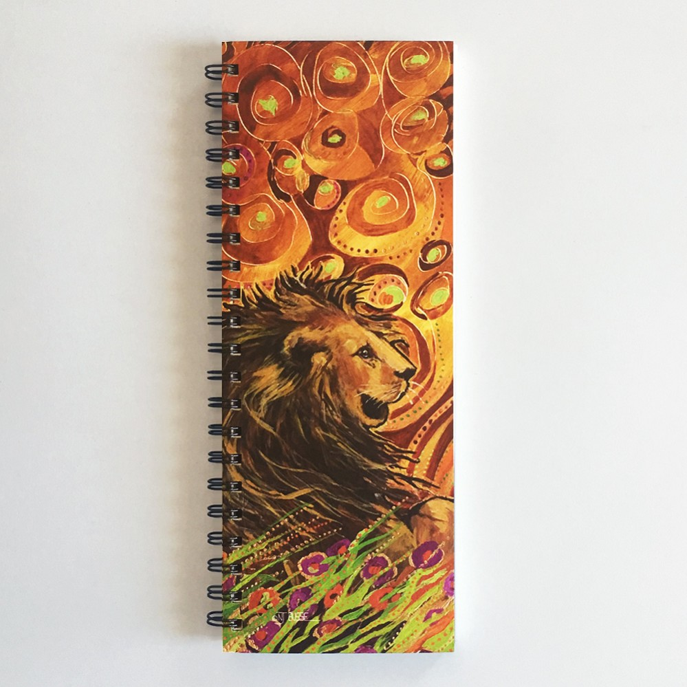 Beautiful Lion ListBook (4.25 x 11 inches)