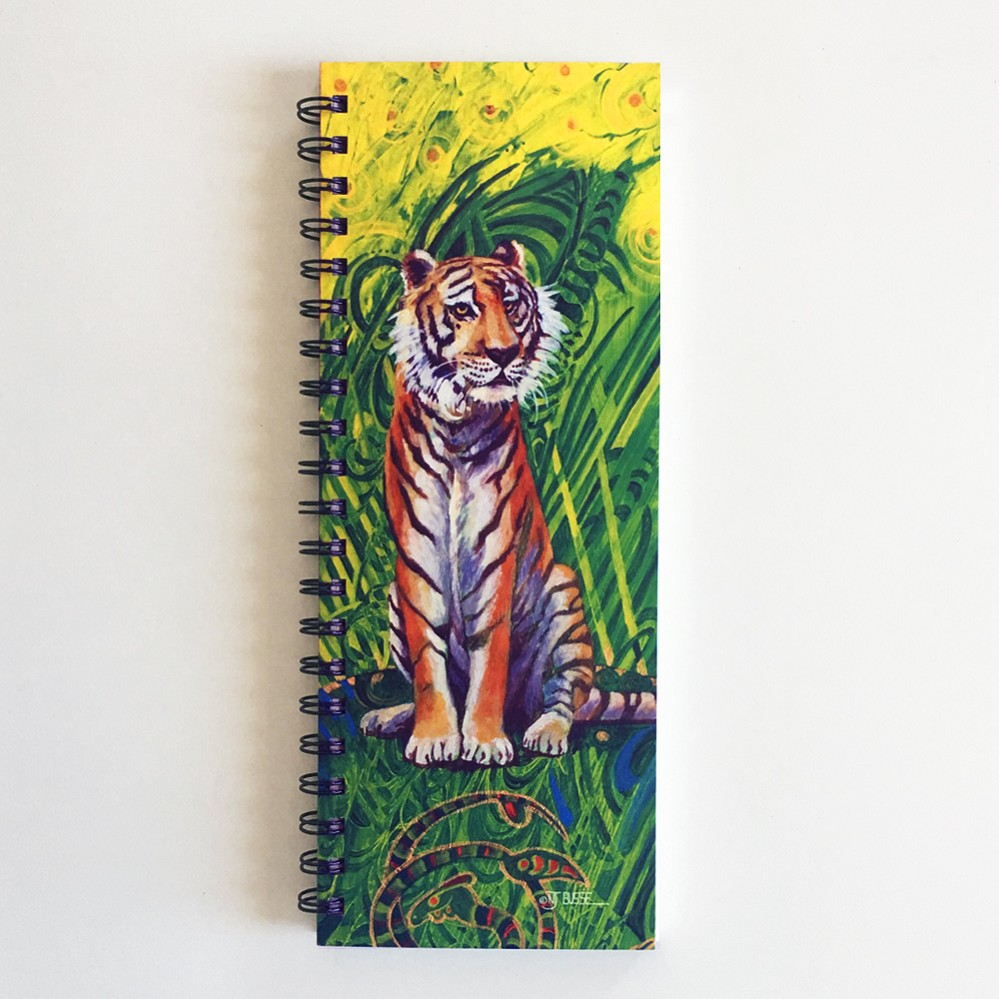 Beautiful Tiger ListBook (4.25 x 11 inches)