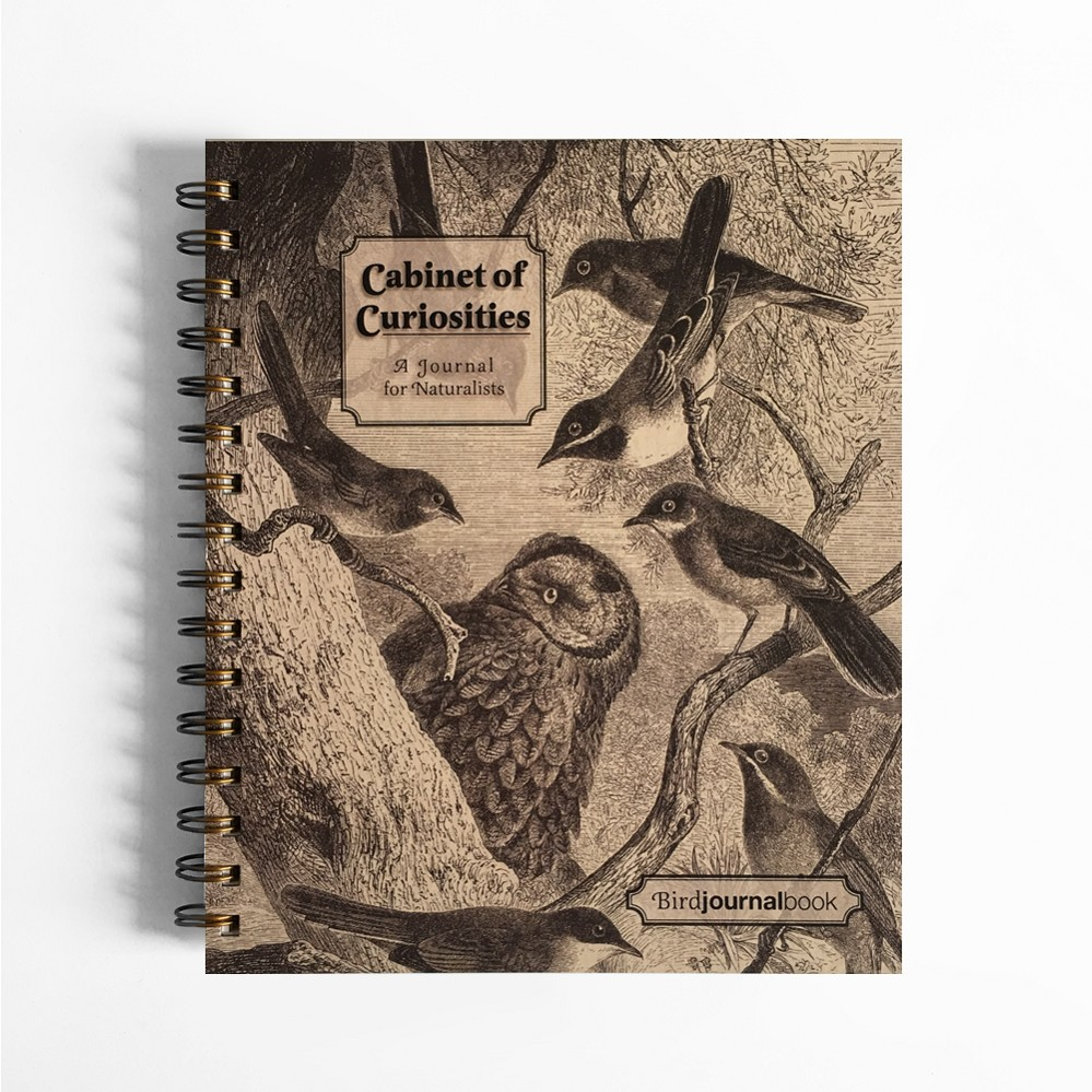 Cabinet of Curiosities Bird JournalBook (7 x 8.5 inches)