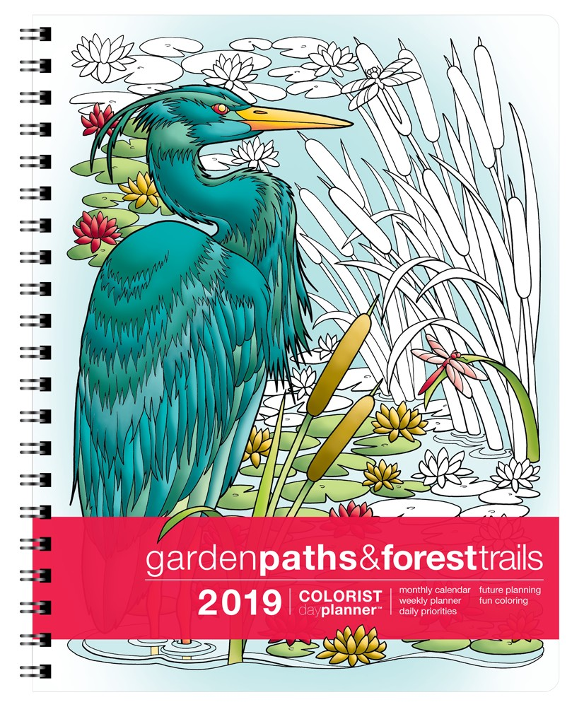 2019 Colorist Day Planner Garden Paths & Forest Trails