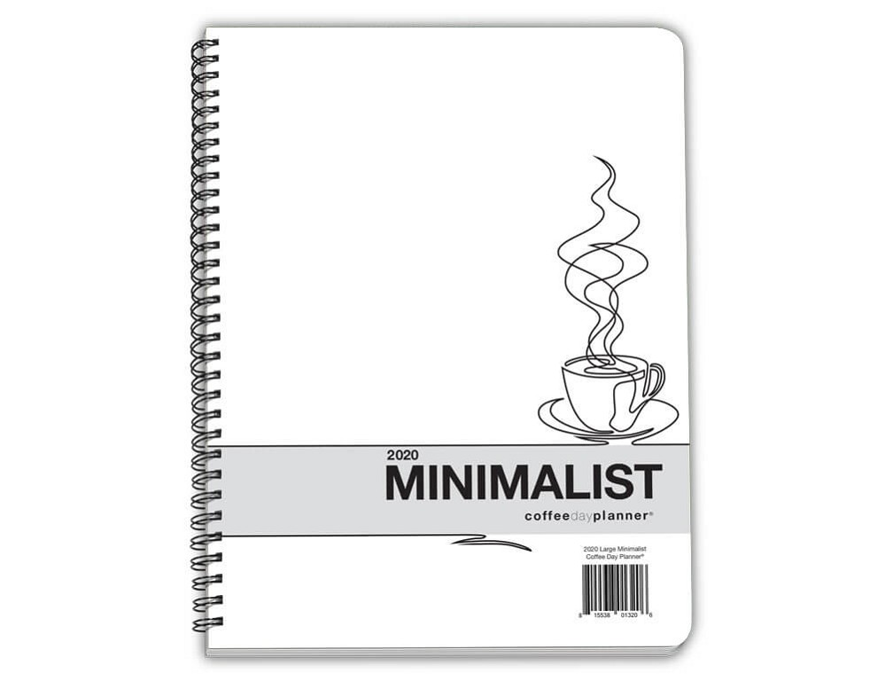 2020 Minimalist Day Planner - Coffee