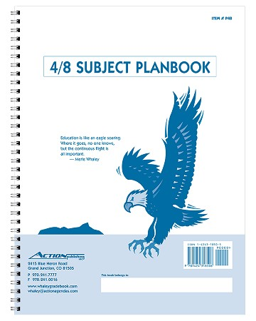 P48 -- 4/8-Subject Whaley Planbook (9 x 12 inches) -- 40 weeks + Seating Chart