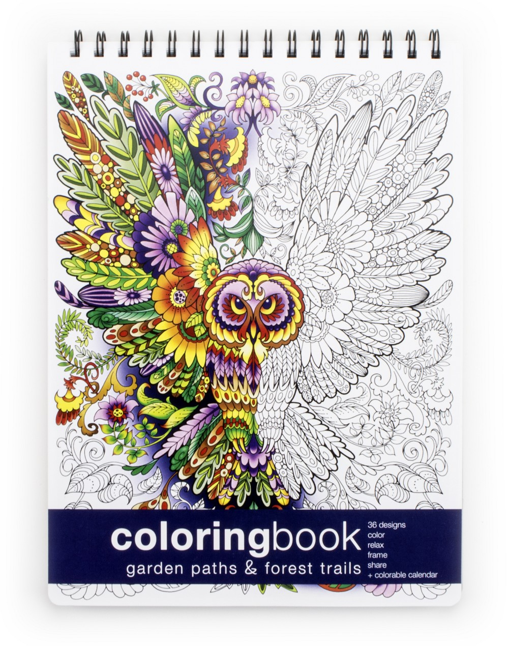 Garden Paths and Forest Trails Coloring Book - Large