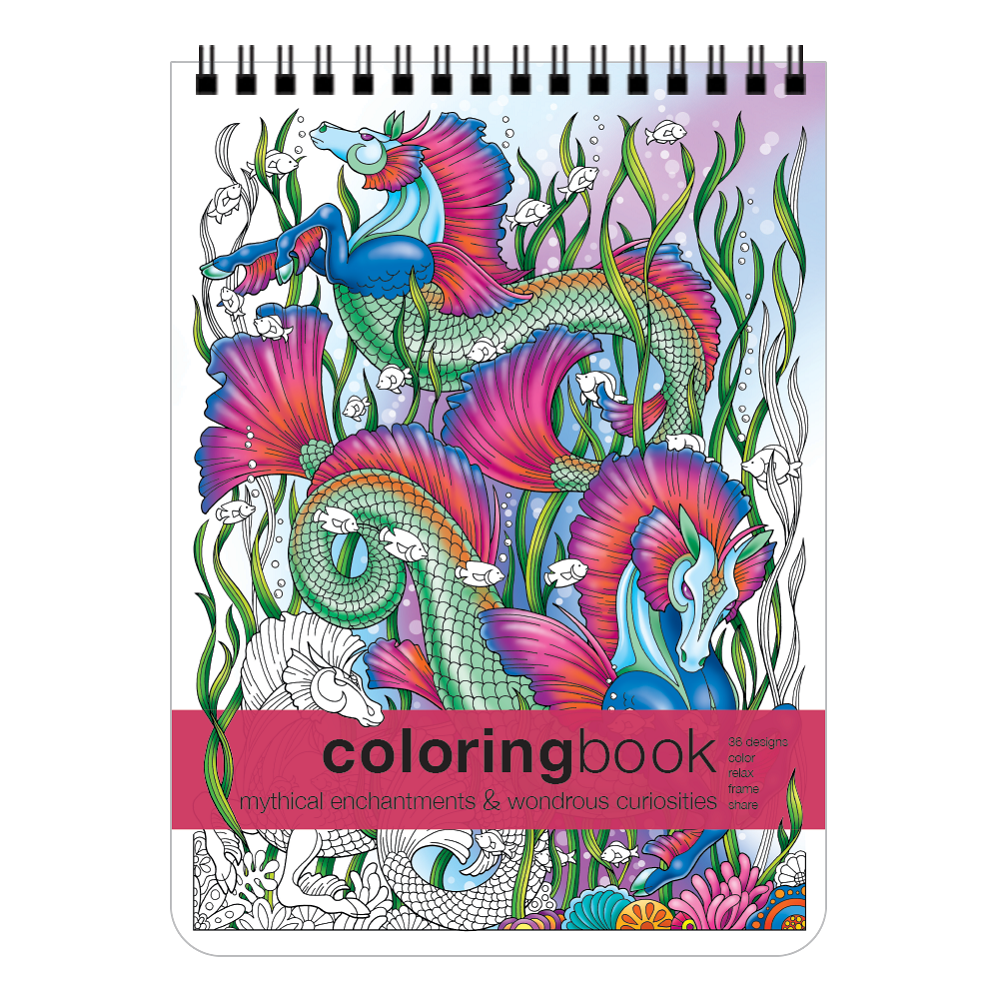 Action Publishing Coloring Book: Mythical Enchantments & Wondrous Curiosities · Unique Fantasy Creatures, and Fairy Tale Designs for Stress Relief and Creativity · Large (8.6 x 11.75 inches)