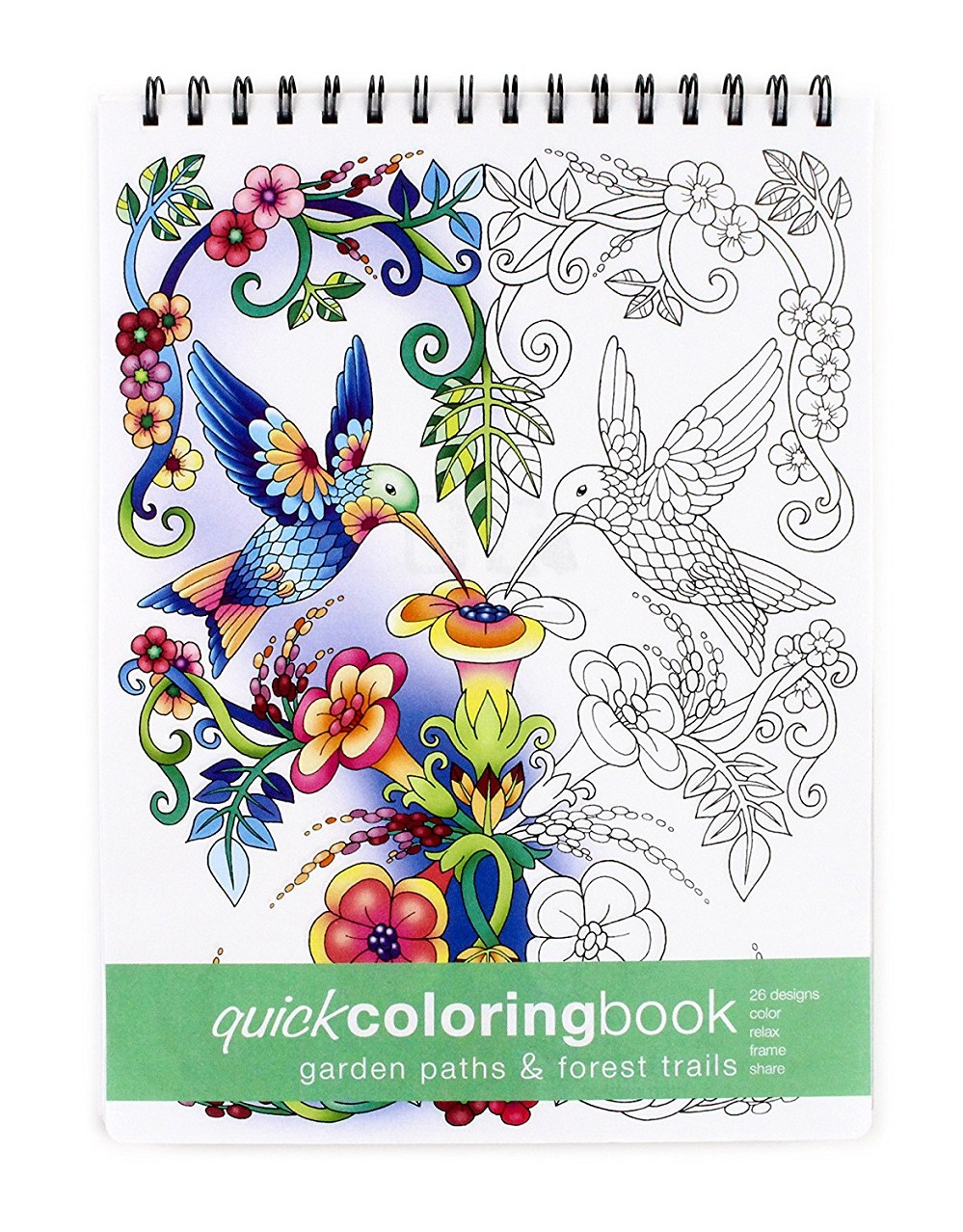 Garden Paths Forest Trails Quick Coloring Book 862 X 1175 Inches