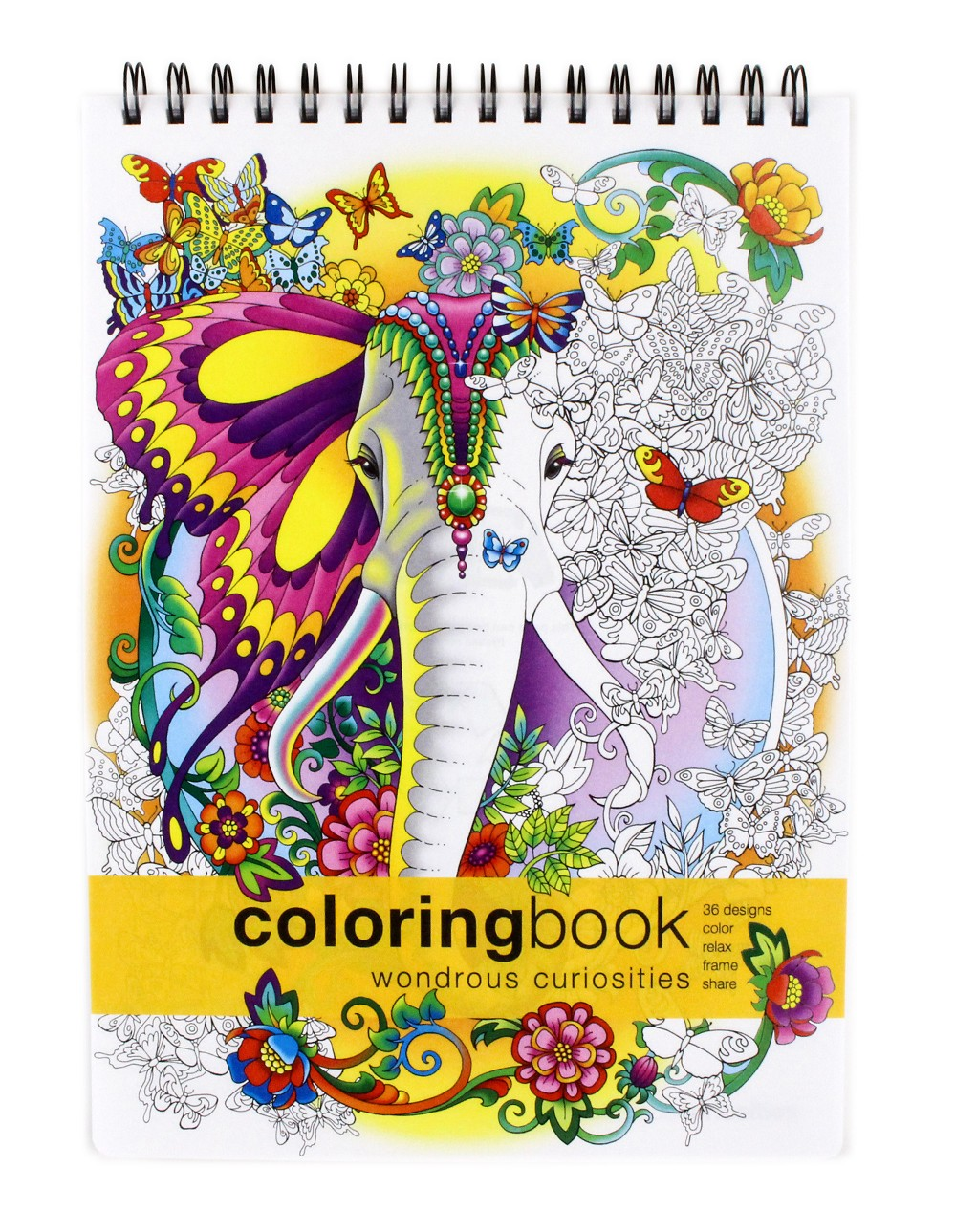 Wondrous Curiosities Adult Coloring Book -- Large (8.62 x 11.75 inches)